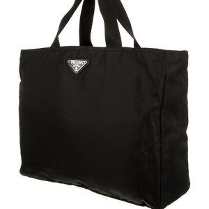 Vintage Prada Vela Flat Tote Bag Nylon Authentic